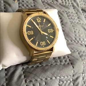 Gold caravelle New York watch.